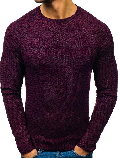 Fioletowy sweter Denley z wełny