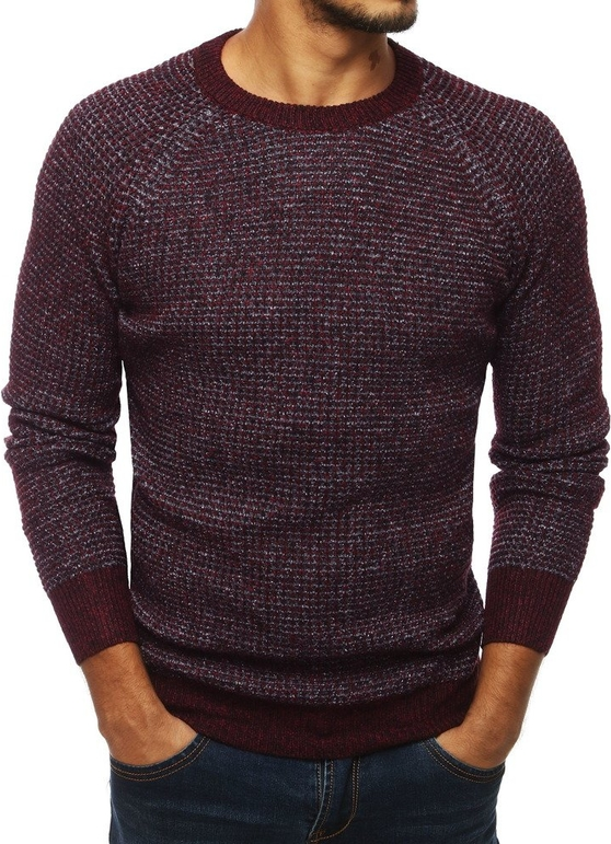 Fioletowy sweter Dstreet z dzianiny