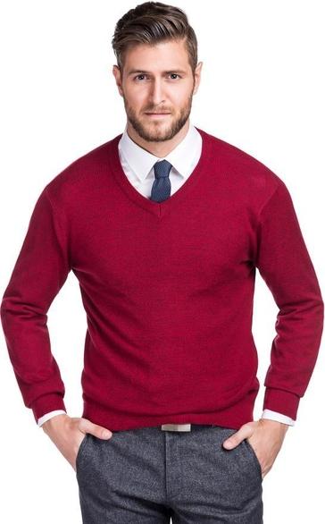 Fioletowy sweter Giacomo Conti z tkaniny