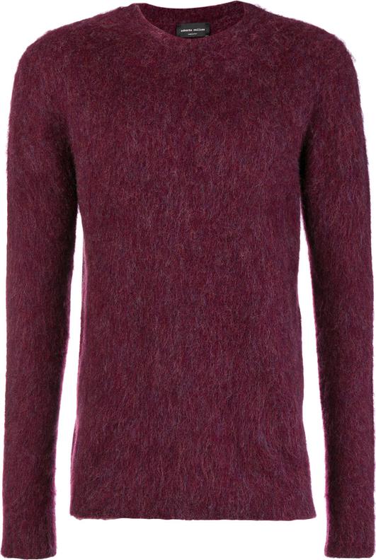 Fioletowy sweter Roberto Collina w stylu casual