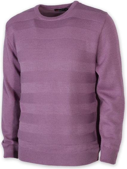 Fioletowy sweter Willsoor w stylu casual z okrągłym dekoltem