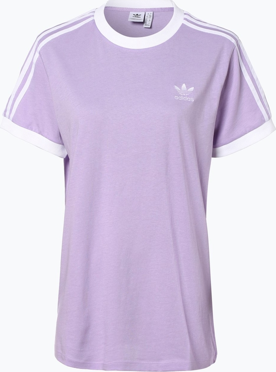 Fioletowy t-shirt Adidas Originals