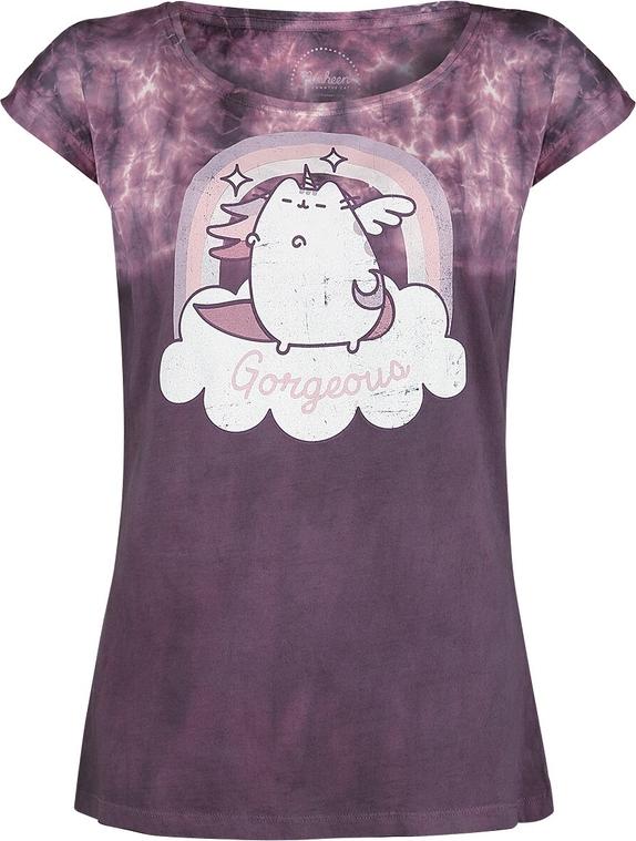 Fioletowy t-shirt Emp z krótkim rękawem