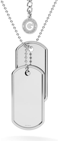 GIORRE KOMPLET NIEŚMIERTELNIK Z WŁASNYM GRAWEREM I ŁAŃCUSZKIEM : Długość (cm) - 60 + 5, Kolor pokrycia srebra - Pokrycie Żółtym 24K Złotem