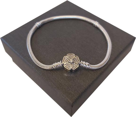 Global Silver Bransoletka Srebrna 19 Cm Do Pandora Charms B117