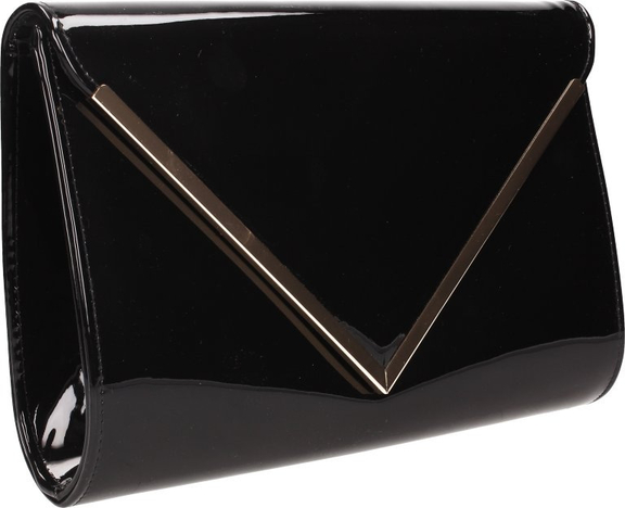 a4cf1877f0e1f Gloriuss torebka damska kopertówka lakierowana czarna