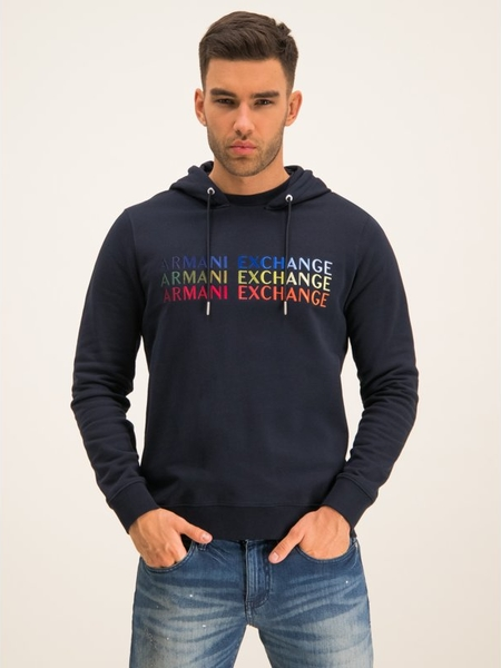 Granatowa bluza Armani Exchange