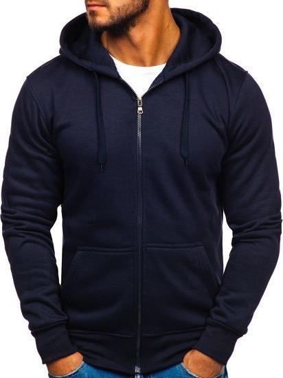Granatowa bluza Denley z bawełny
