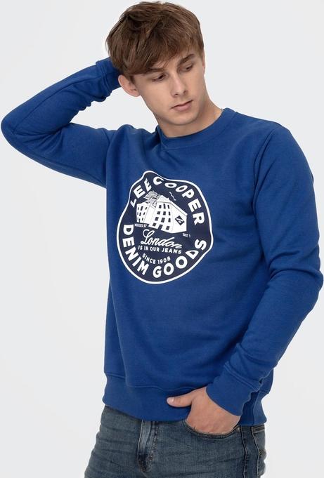 Granatowa bluza Lee Cooper z dzianiny z nadrukiem