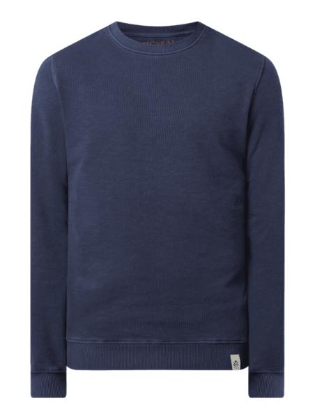 Granatowa bluza McNeal w stylu casual z bawełny