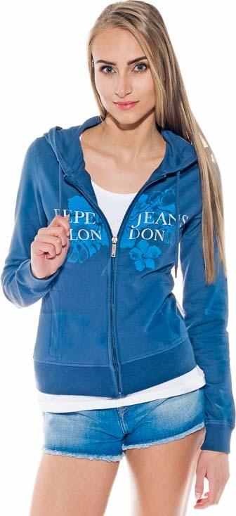 Granatowa bluza Pepe Jeans krótka