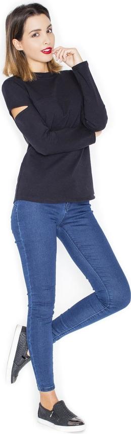 Granatowa bluzka Katrus z długim rękawem z dresówki