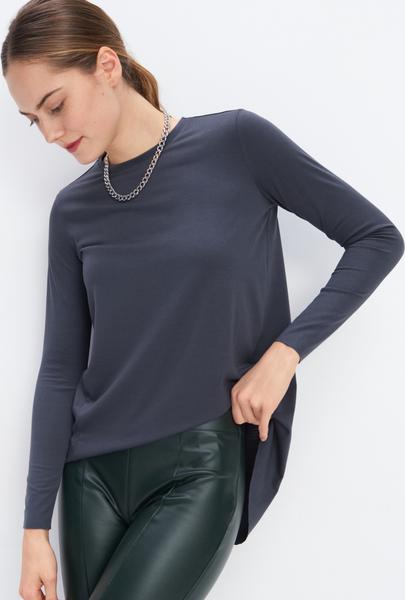 Granatowa bluzka Mohito z długim rękawem