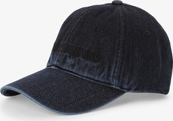 szyk Granatowa czapka Calvin Klein Akcesoria Damskie Czapki damskie GP HLUWGP-3