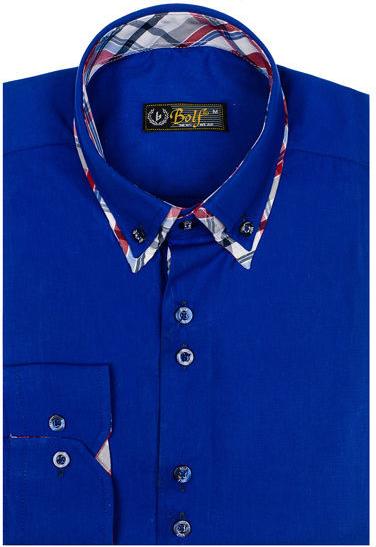 Granatowa koszula Denley z długim rękawem