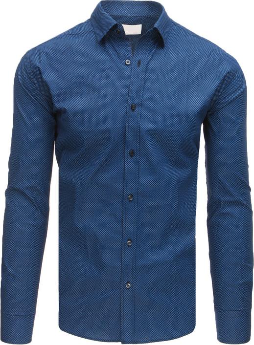Granatowa koszula Dstreet z długim rękawem