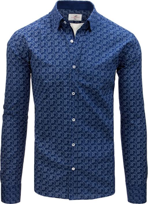 Granatowa koszula Dstreet z kołnierzykiem button down