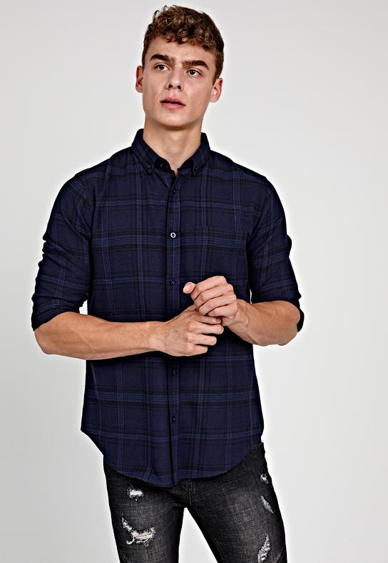 Granatowa koszula Gate z długim rękawem