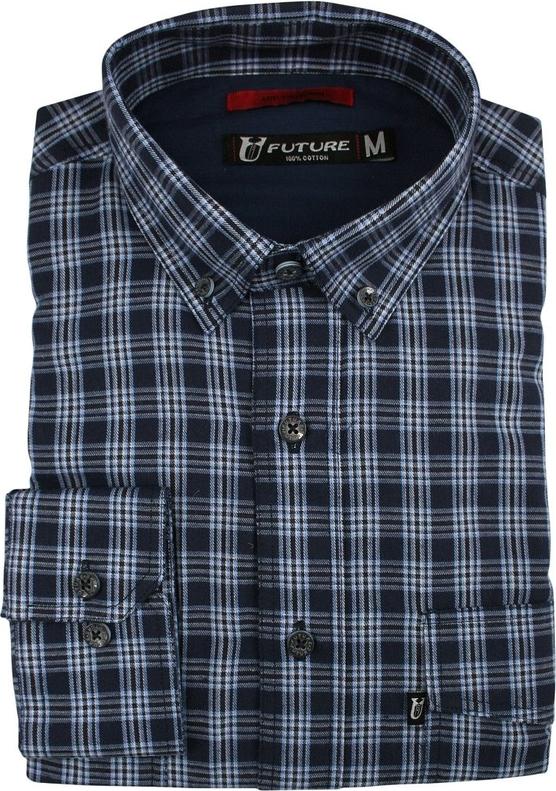 Granatowa koszula Jurel z długim rękawem