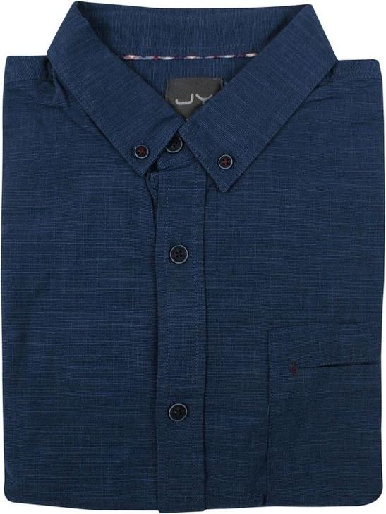 Granatowa koszula Just yuppi z tkaniny z kołnierzykiem button down