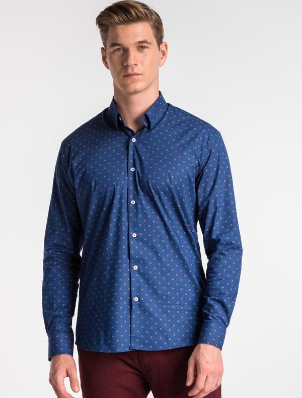 Granatowa koszula Ombre_Premium