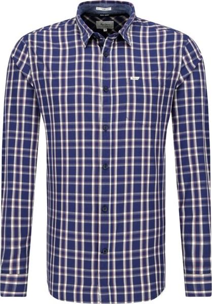Granatowa koszula Pepe Jeans z długim rękawem w stylu casual