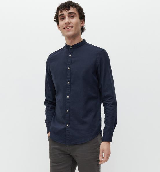 Granatowa koszula Reserved z bawełny z długim rękawem