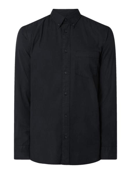 Granatowa koszula Selected Homme z długim rękawem w stylu casual z klasycznym kołnierzykiem