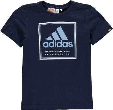Granatowa koszulka dziecięca Adidas