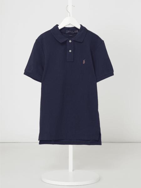 Granatowa koszulka dziecięca Polo Ralph Lauren Childrenswear z krótkim rękawem z bawełny