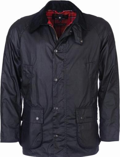 Granatowa kurtka Barbour w stylu casual z bawełny