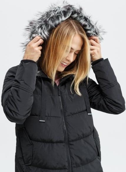 Granatowa kurtka Feewear w stylu casual długa