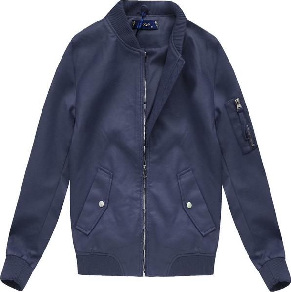 Granatowa kurtka L. Style w stylu casual