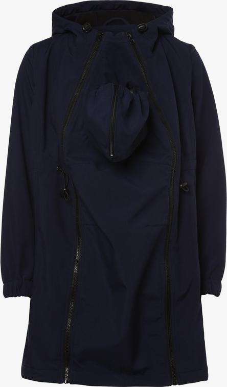 Granatowa kurtka Mama Licious w stylu casual długa
