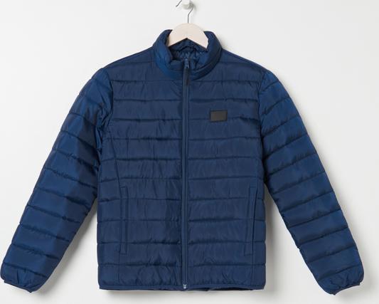 Granatowa kurtka Sinsay krótka w stylu casual