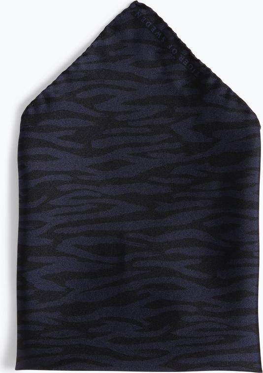Granatowa poszetka Tiger Of Sweden z jedwabiu