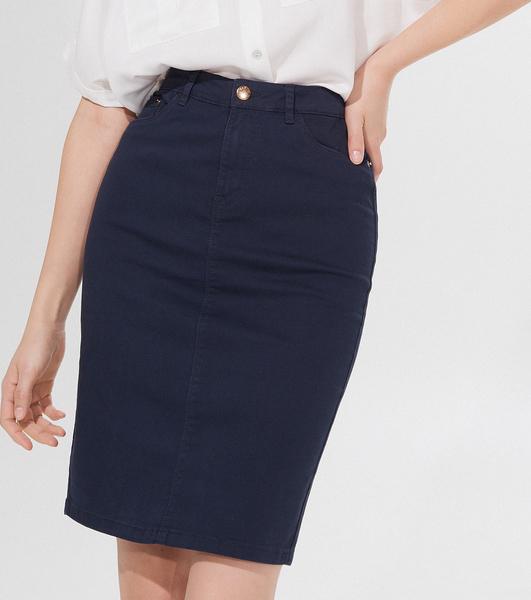 Granatowa spódnica Mohito z jeansu