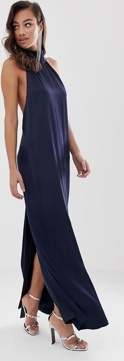 Granatowa sukienka Asos bez rękawów