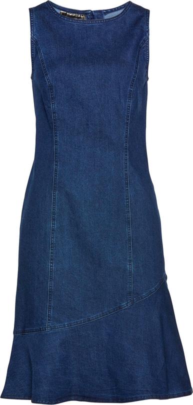 Granatowa sukienka bonprix bez rękawów