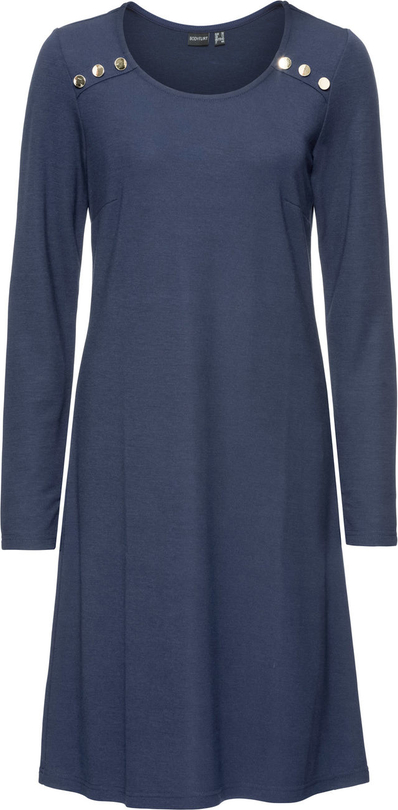 Granatowa sukienka bonprix bodyflirt