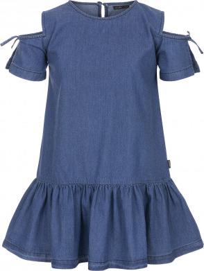 Granatowa sukienka dziewczęca Endo z jeansu