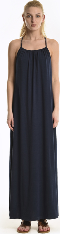 Granatowa sukienka Gate maxi