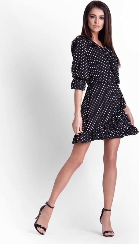 Granatowa sukienka Ivon