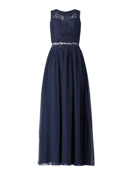 Granatowa sukienka Laona maxi bez rękawów