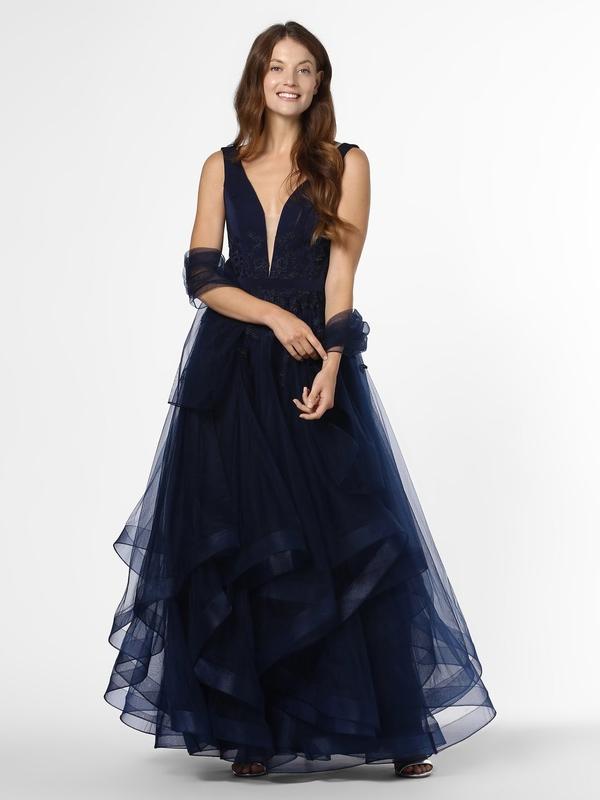 Granatowa sukienka Mascara rozkloszowana