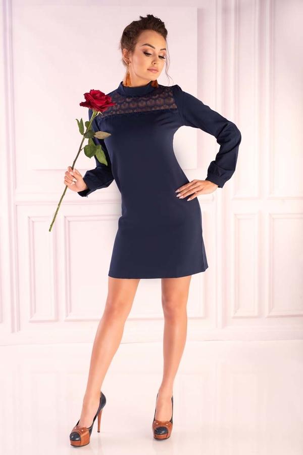 Granatowa sukienka MERRIBEL w stylu casual mini