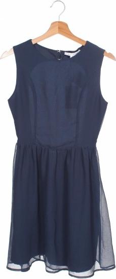 Granatowa sukienka NLY TREND rozkloszowana mini