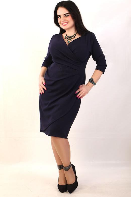 Granatowa sukienka Oscar Fashion midi