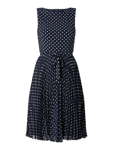 Granatowa sukienka Ralph Lauren bez rękawów