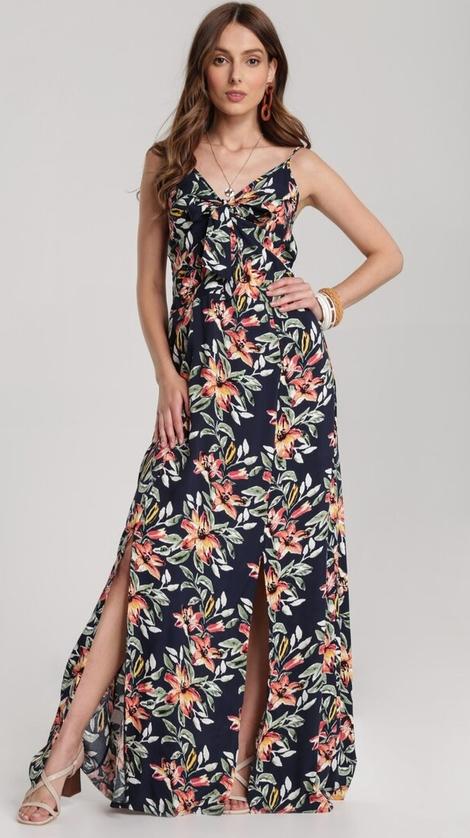 Granatowa sukienka Renee maxi